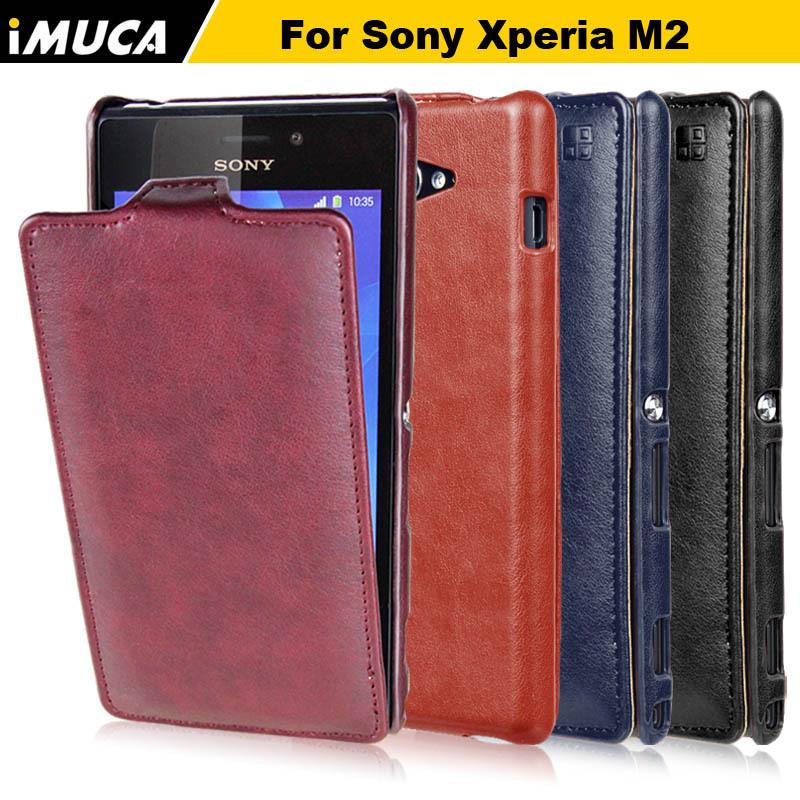 IMUCA Originla aqua For Sony Xperia M2 S50h Dual D2302 d2303 D2305 case cover luxury vertical leather flip Phone Cases funda(China (Mainland))