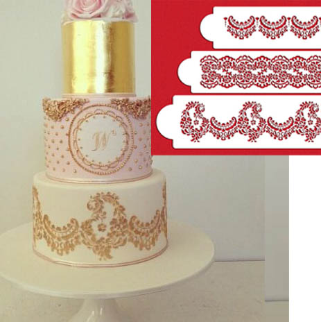 Wedding Cake Decoration Molds : Aliexpress.com : Buy YO 3pcs/lot Fondant Molds Cake ...