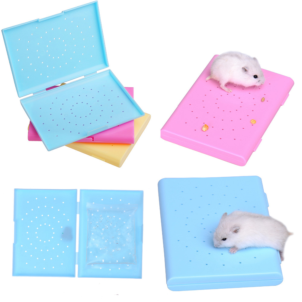 hamster cooling bed (with a cooling bag) Hamsters keep warm bed small pet plastic litter in the box Hamster cage toys(China (Mainland))