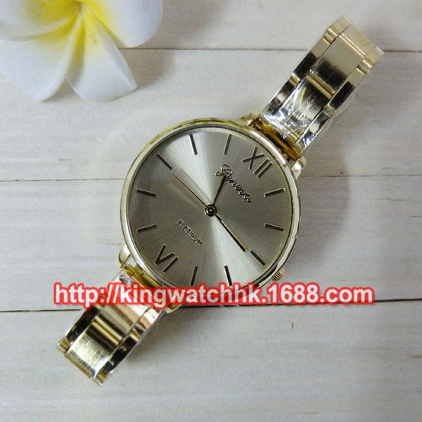 DHL free,100pccs/lot New Design Alloy Watch Geneva Brand Metal Watch Fashion Ladies women Dress Crystal Quartz stell belt Watch(China (Mainland))