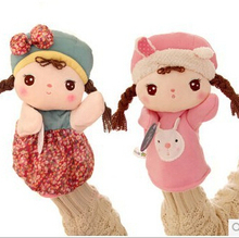 1pcs 23cm Metoo with rabbit lovely girl Angela plush toy doll cartoon puppet doll children birthday gift parent-child play(China (Mainland))