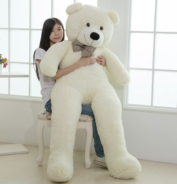 Large size 200cm Giant Teddy Bear Lovers Big bear Arms Large Dolls Birthday Gift Plush Toy Wedding Bear With PP Cotton Quality(China (Mainland))