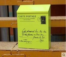 British rain suggestion box tin trunk painted red mailbox Creative mailbox mailbox outdoor newspaper boxes genuine pastoral(China (Mainland))