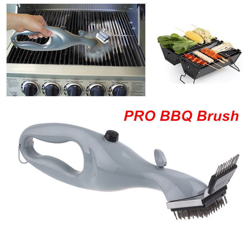 Barbecue Stainless Steel BBQ Cleaning Brush Churrasco Outdoor Grill Cleaner with Power of Steam bbq accessories Cooking Tools(China (Mainland))