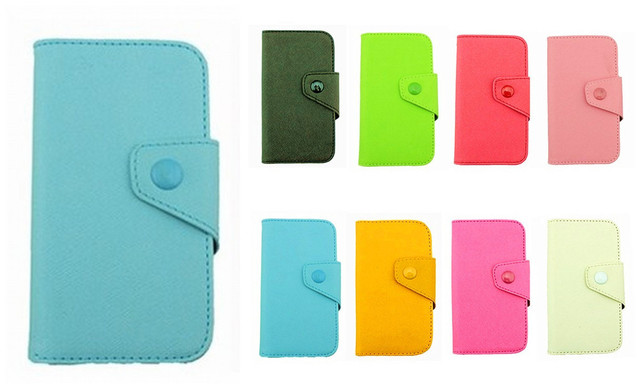 Fancy PU Leather Wallet Case Cover With Magnetic flap closure Diary for Samsung S5360 Galaxy Y Young Smart Mobile Phones
