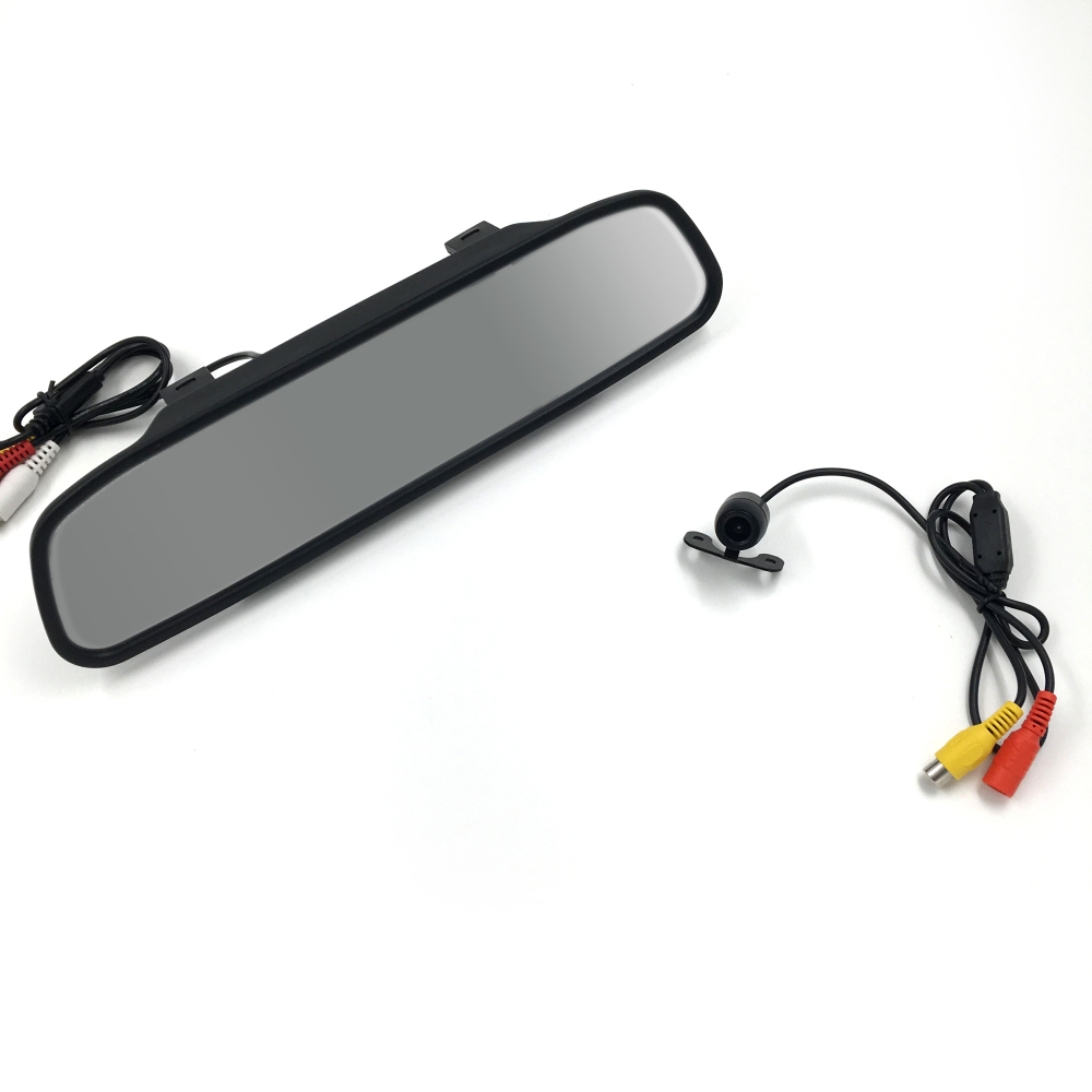 New Arrival HD Video Auto Parking LCD Monitor Car Butterfly Camera + 4.3 inch Car Rear View Mirror Monitor for Backing(China (Mainland))