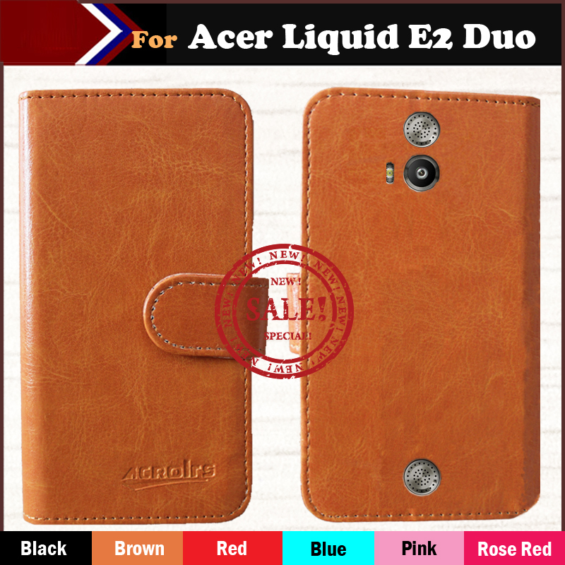 Sale! [6 Colors] Luxury Stand Wallet Flip Leather Case Acer Liquid E2 DUO v370 Phone Bag Cover Vintage Book Style - ShenZhen OYO Technology Co., Ltd. store