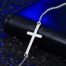 Buy 2017 Horizontal Men Cross Necklaces Pendants 316L Stainless Steel Chain Necklace Pendant Women Fashion Collar de Cadena Jewelry for $1.80 in AliExpress store