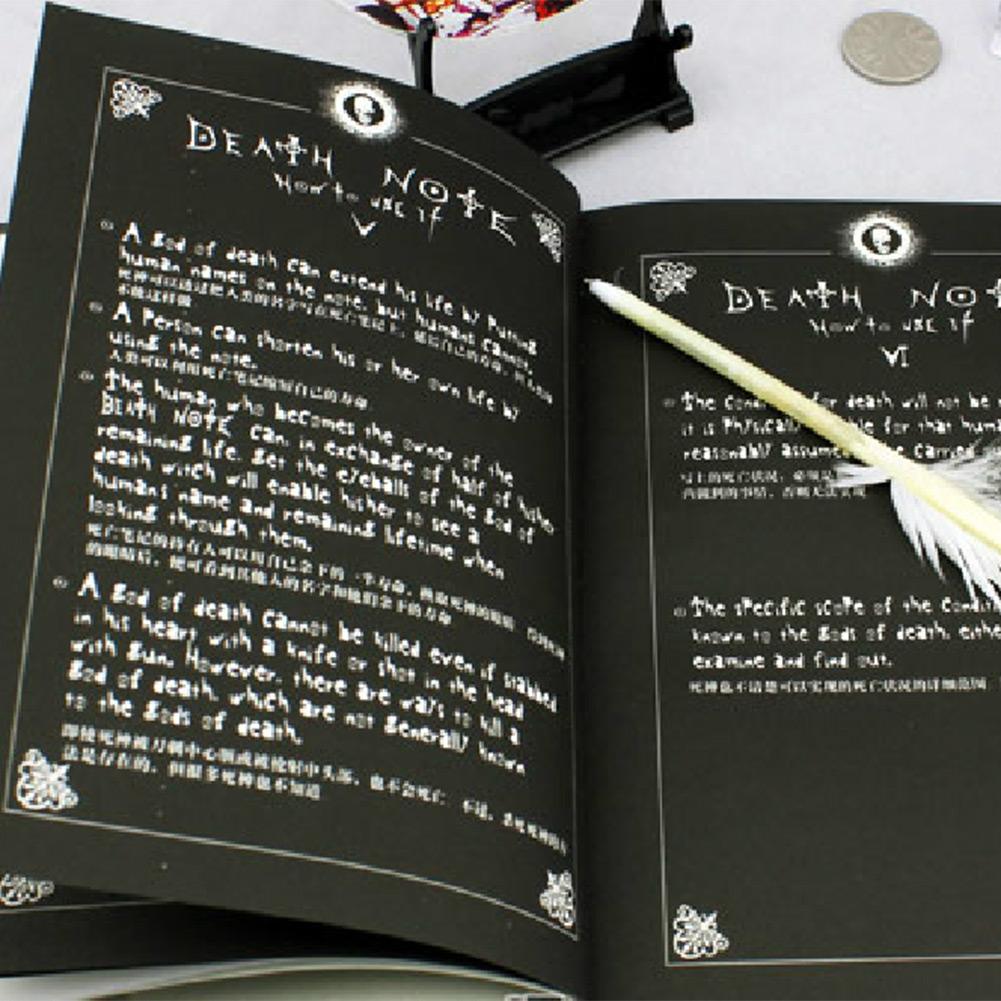 Гаджет  cool Death Note Notebook   Feather Pen Writing Book Notebook Cosplay Japaness Anime Theme School Diary None Офисные и Школьные принадлежности