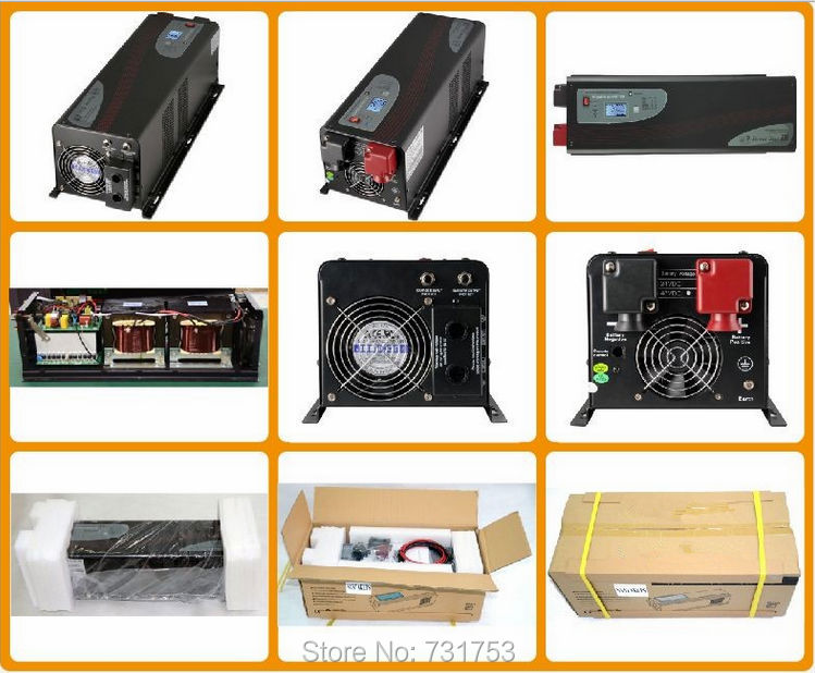 24V,1500W Power Solar Inverter With Charger , Output 50Hz/60Hz , 120VAC/220VAC, For Off-grid System, Free Shipping(China (Mainland))