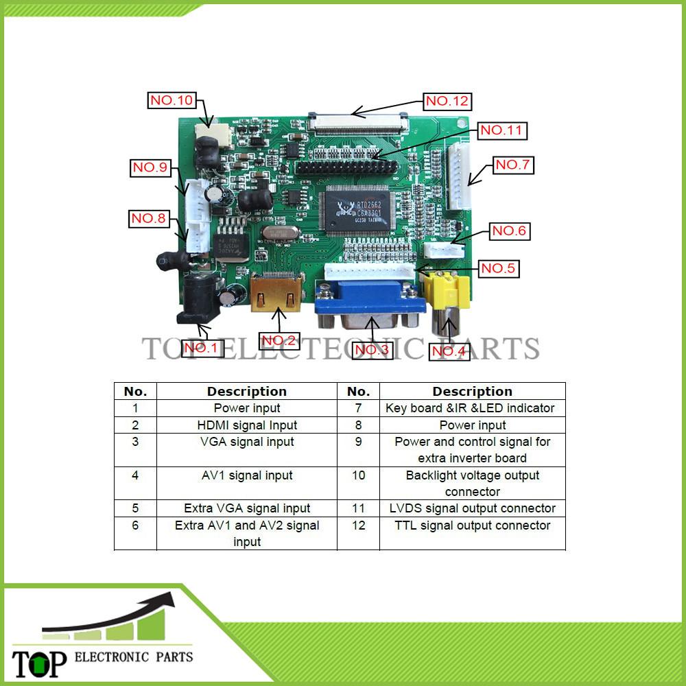 HDMI+VGA+2AV Board 1