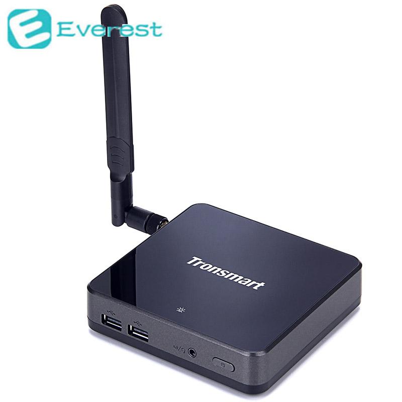Tronsmart Ara X5 Plus Windows 10 Mini PC TV Box Intel Atom Cherry Trail Z8300 Quad Core 1.8GHz CPU 2G/32G WiFi HDMI USB3.0(China (Mainland))