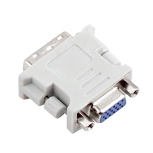 VGA Female 15 Pin DVI-I 24+5 Male F-M Digital Video Adapter Converter YKS - Store store