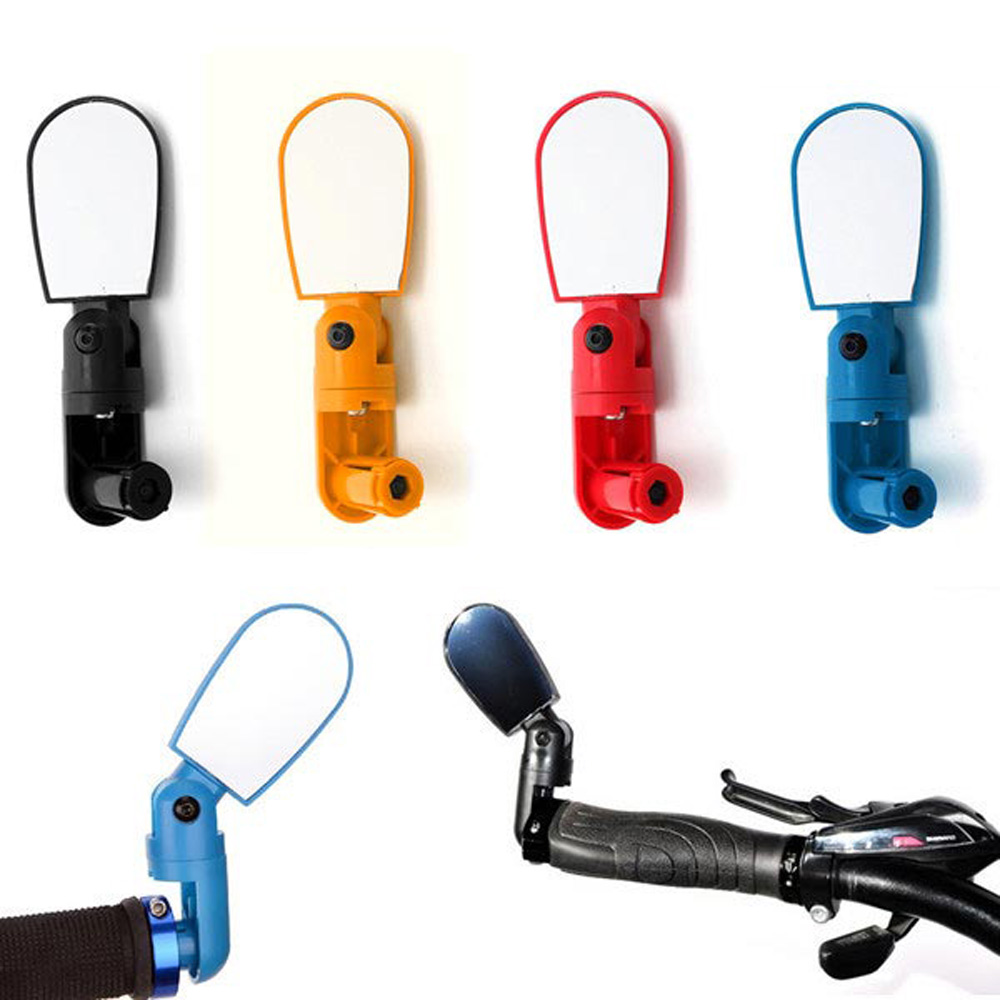 High Quality MTB Bike Bicycle Cycling Rear View Mirror Glass Adjustable Mini Small Iron Handlebar Bar Yellow/Black/Red/Blue(China (Mainland))