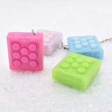 Unlimited Puchi Puchi Keychain Puti Electronic Bubble Keyring Pop infinite air bubble Vent Decompress speaker toy(China (Mainland))