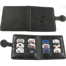 Portable 12PCS Rock Style Plectrum Bass Guitar Picks With Leather Magnetic Button Wallet Bag Case(China (Mainland))