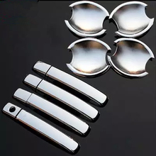 High Quality ABS Chrome Door Handle Cover + Cup Bowl For Nissan Qashqai 2007 2008 2009 2010 2011 Free Shipping
