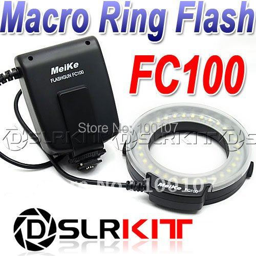 Meike FC-100 FC100 Macro Ring Flash/Light for Canon EOS 650D 600D 60D 7D 550D 1100D T4i T3i T3(China (Mainland))