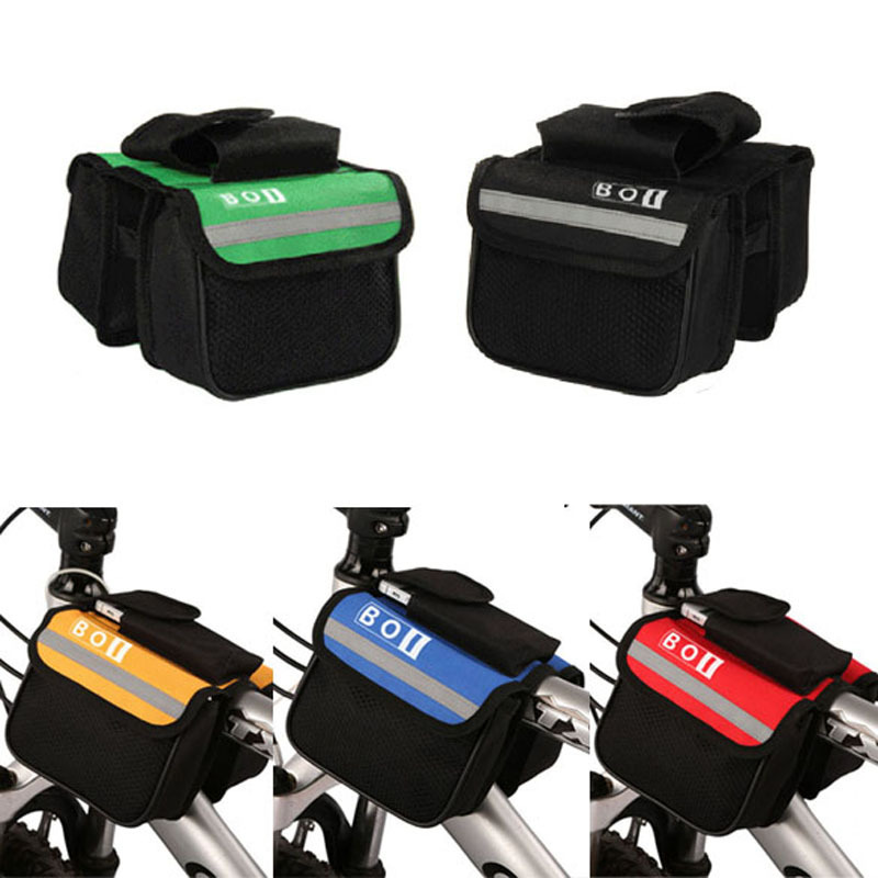 New Arrival 15* 11.5*5cm 2L Bicycle Cycling Bag Bike Top Tube Saddle Bag Bicycle Frame Pannier Bag Rack Bicycle Accessories H1E1(China (Mainland))