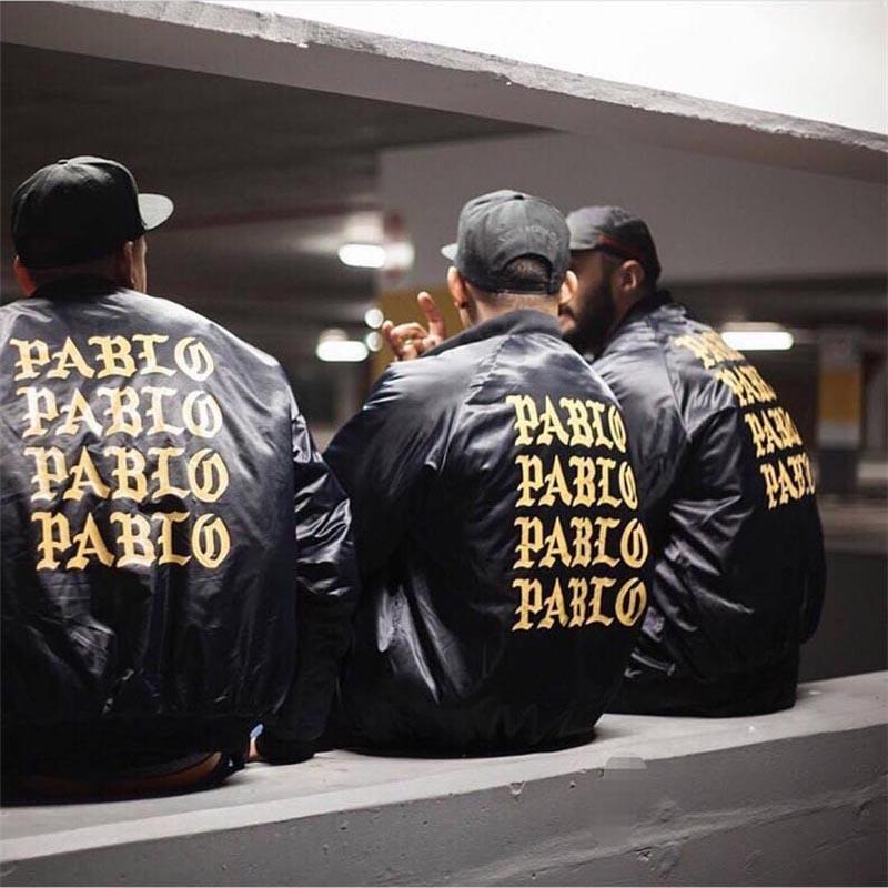Pablo Jacket Kanye West Mens Motorcycle Fish Bomber Jacket Japanese I Feel Like Pablo Hoodie The Life Of Pablo Kanye Jacket(China (Mainland))