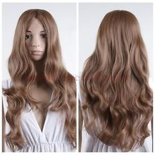Hot heat resistant Kanekalon Party hair>>Women Full Sexy Wig Long Curly Fashion Wave Heat Resistant Hair Dance Party Wigs