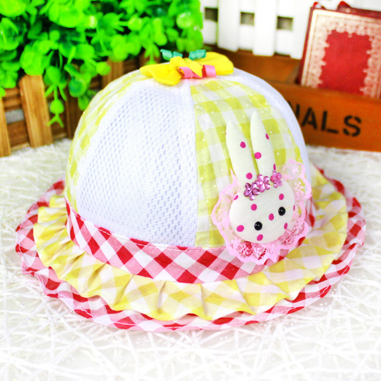 Cute lace flower girl summer hat baby sun hat Beach Bucket Hat chapeu for kids sombrero(China (Mainland))