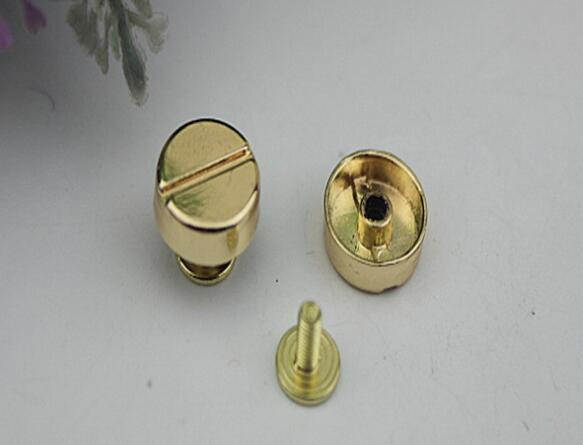 Free shipping (20 PCS/lot) diy bag accessories metal handbag at the bottom of the circular arc rivets(China (Mainland))