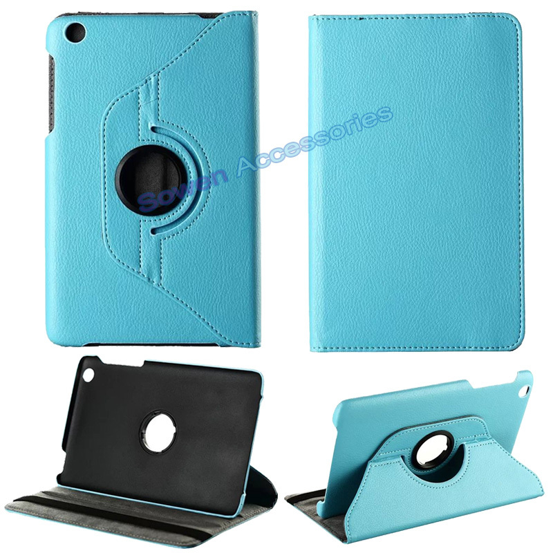 Magnetic Smart Cover Embossed leather Case 8 inch Lenovo A5500 A8-50 8' 360 Degrees Rotating Stand,10 colors. - Sowen accessories Co., Ltd store