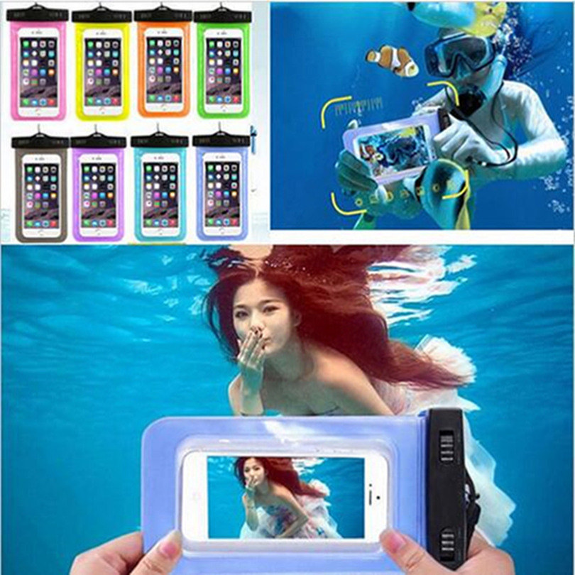 Newest Universal Waterproof Diving Bag For Mobile Phones Underwater Pouch Case For Apple Iphone Ipod Touch 3 4 5 5C 6 Plus(China (Mainland))