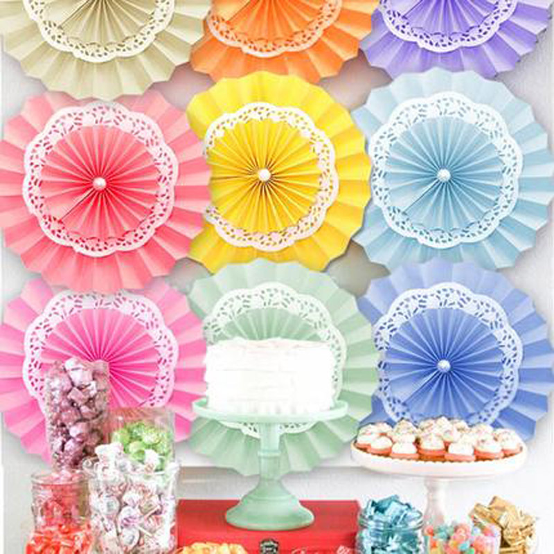 "5pcs/lot 16""(40cm) Tissue Paper Fan Flower Folding DIY Paper Crafts for Baby Shower casamento Wedding Birthday Party Decoration(China (Mainland))"