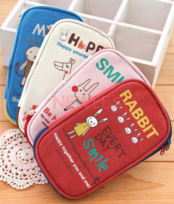 Cute boys girls cartoon lovely school animal zipper - Como forrar una caja con tela ...