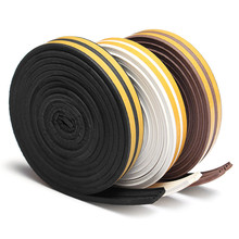 Lowest Price 5M E Type Rubber Foam Draught Self Adhesive Window Door Excluder Seal Strip Tape(China (Mainland))
