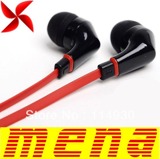 Wallytech  WEA-111 WEA 111   Earphone Headphone   Flat Cable Earphone For iPod MP3 MP4 For iPad headphones For Touch 3.5mm