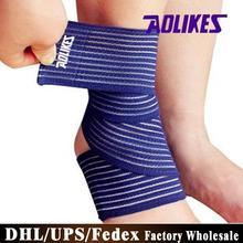 (Wholesale) 1000PCS High Elastic Bandage Ankle Support Adjustable Sports Riding Bandage Anckle Brace(China (Mainland))
