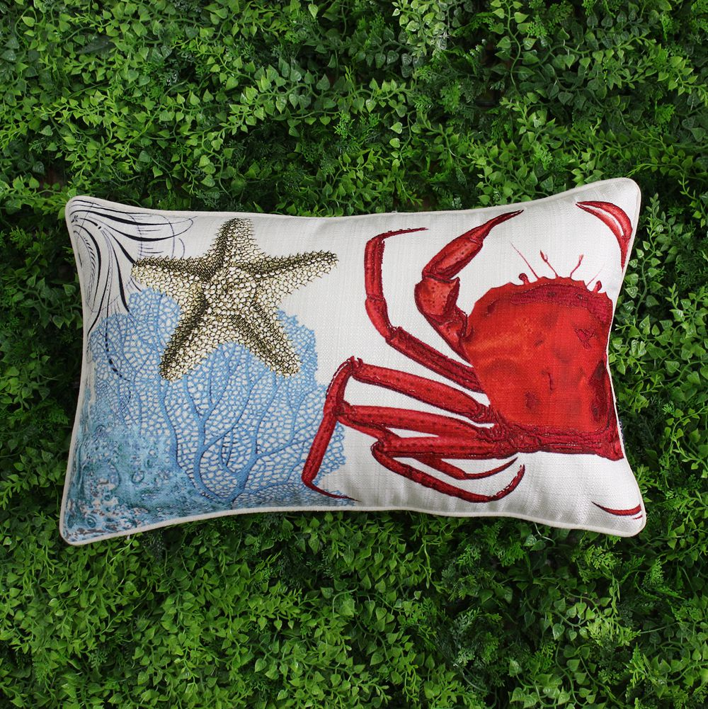 VEZO HOME printed crab coral sofa cushions cover home decor throw pillows cover chair seat pillow case rectangle 50x30cm(China (Mainland))