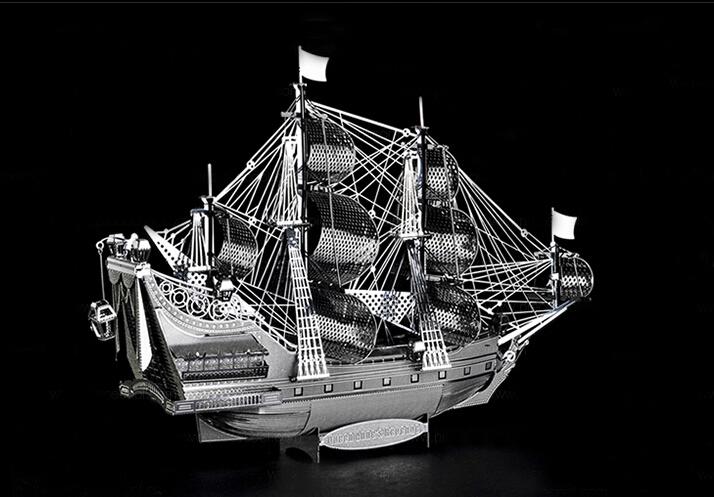 High quality Metal 3D three-dimensional puzzle toy / hand DIY ship model / birthday present(China (Mainland))