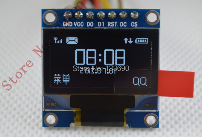 5pcs/lot 0.96 inch OLED display module, white on black Freescale smart car special OLED modules(China (Mainland))