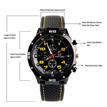 Free Shipping 2016  Racing Men Sports Watches Luxury Brand Grand Touring Silicone Men Quartz Military Watch Sport Watch