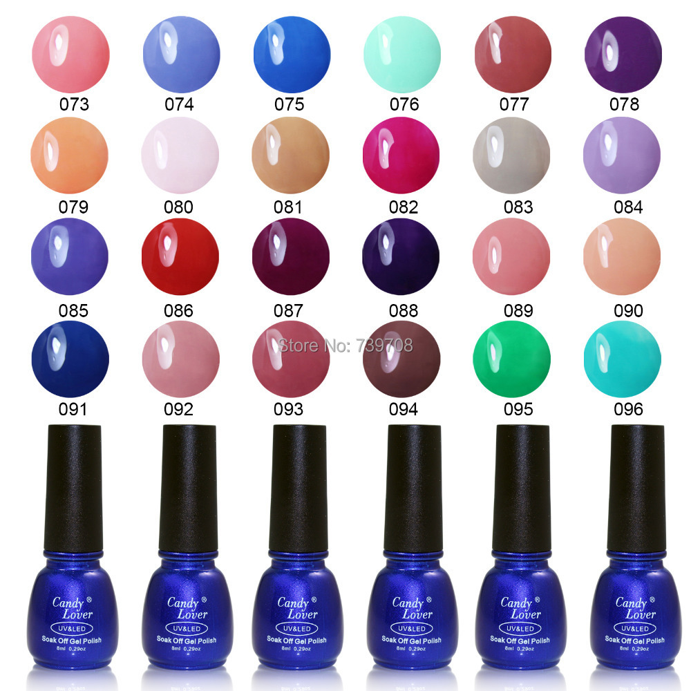 Candy Lover Hot-Selling Gel Nail Polish 240 Fashion Colors Soak LED/UV 8ml - Store store