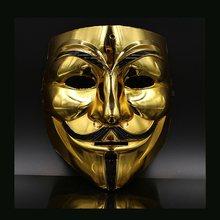 Bán Trắng/Vàng/Bạc/Vàng V For Vendetta Guy Fawkes Mặt Nạ Vô Danh Halloween Trang Phục Hóa Trang Đảng tiếp Liệu Đáng Sợ Chống Đ(China)