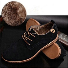 Vancouver Wolf  2015 genuine leather winter boots ankle sewing warm thickening men boots pointed toe men Oxford Shoes EU 45-48(China (Mainland))