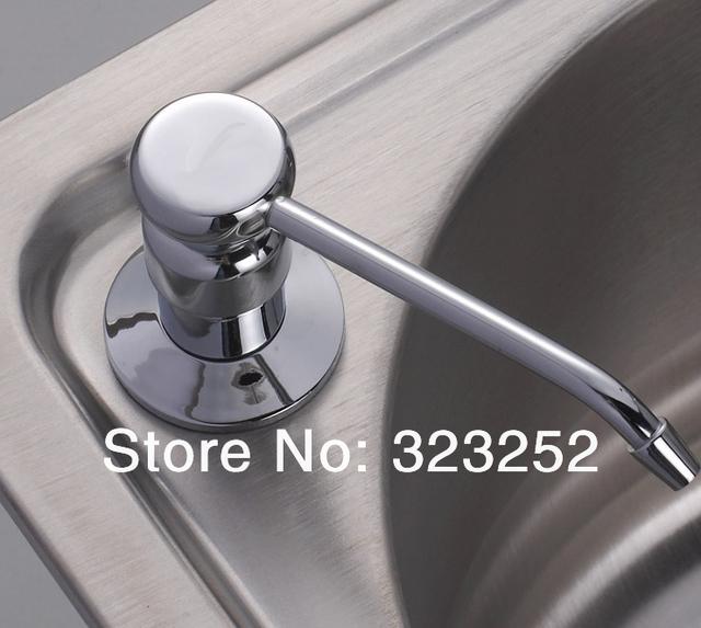 2014 new arrival real freeshipping 2500ml stailess steel kitchen sink bar liquid soap dispenser resist rust bottles pj43