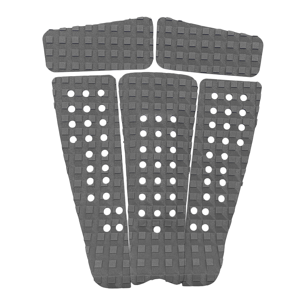 Perfeclan 5pcs Square Grooved EVA Surfboard Skimboard Longboard SUP Traction Deck Grip Tail Pad Trimmable Sheet Accessories
