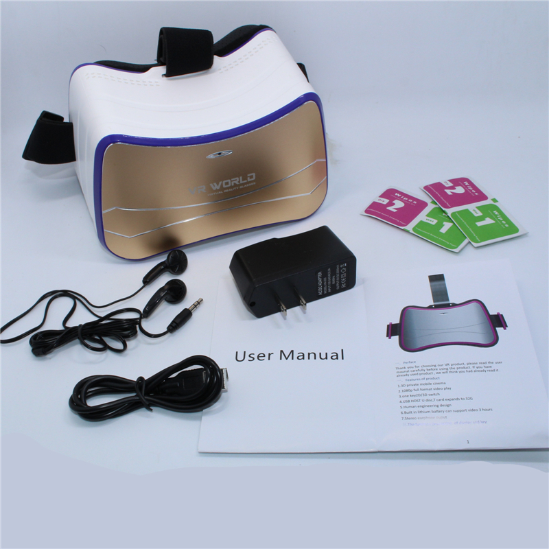 All in one VR headset works without smartphone:HD IPS Screen,720*1280 Resolution,Wifi and Bluetooth 4.0,Support USB 2.0(China (Mainland))