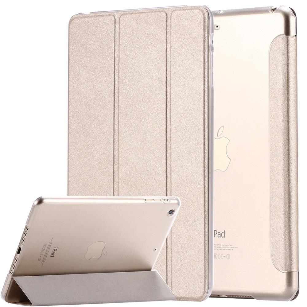 ipad mini / ipad5 /6 Air 2 Flip Luxury Transparent Clear Silk Leather Case /air2 Mini 1 3 4 Stand Cover - YXF Group CO.,LTD store