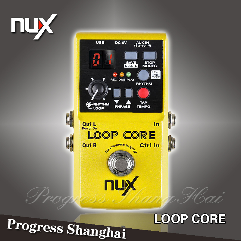 NUX Loop Core phrase loop pedal / 40 recording drum machine / Guitar Effect Pedal / Free Shipping / Circulation recordings(China (Mainland))