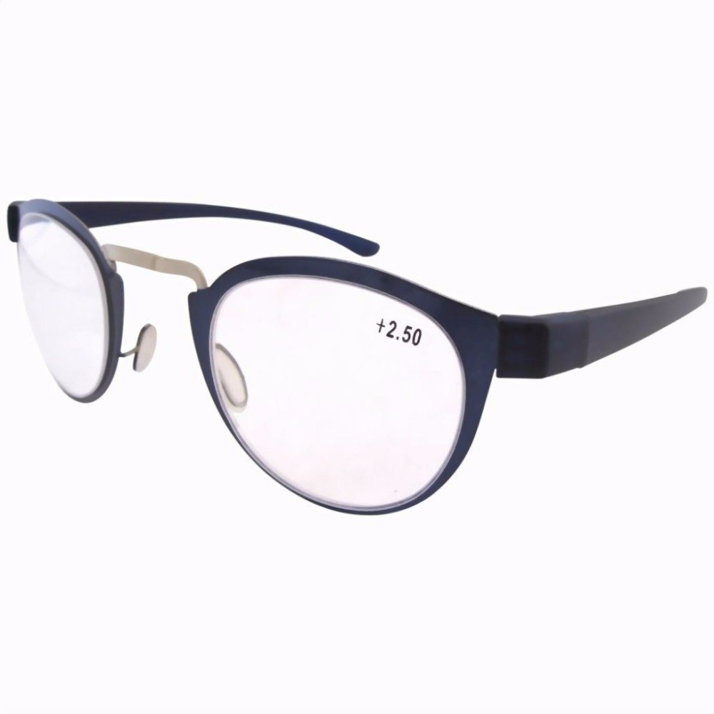 Glasses Frames Arms : R11042 Stainless Steel Frame Rim Plastic Arms Retro Silver ...