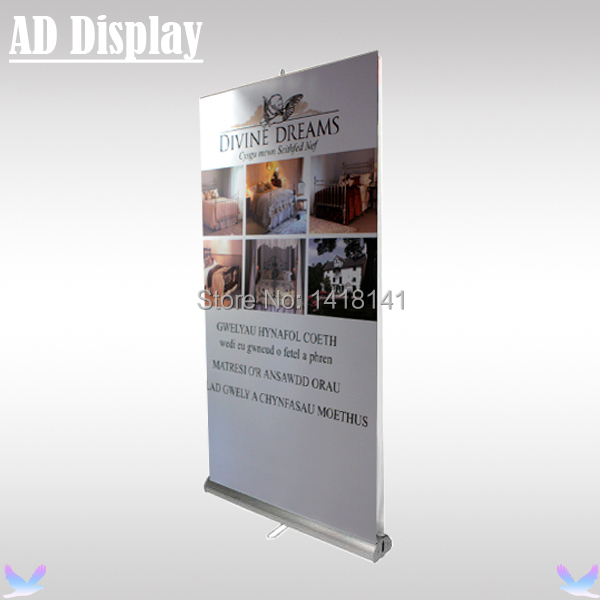 100*200cm Exhibition Double Side Aluminum Pull Up Banner Stand,Retractable Advertising Roll Up Display,Trade Show Equipment(China (Mainland))