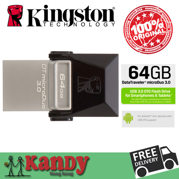 Kingston OTG usb flash drive pendrive pen drive 3.0 16gb 32gb 64gb Smartphone Micro Memory USB Portable Storage Stick microDuo(China (Mainland))