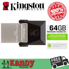 Kingston OTG Smart phone Micro USB 3.0 Flash OTG 16GB 32GB 64GB U Disk for Android Mobile phone Wholesale price microDuo
